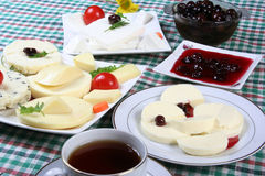 Breakfast. Dairy products, and village breakfast Stock Image