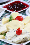 Breakfast. Dairy products, and village breakfast Royalty Free Stock Photography