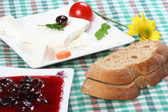 Breakfast. Dairy products, and village breakfast Royalty Free Stock Images