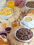 Breakfast. A delicious served breakfast with coffee stock photography