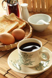 Breakfast. Of coffee,toast,eggs Stock Image
