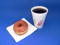Breakfast. Coffe and Donut Royalty Free Stock Image