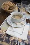 A breakfast. In the Parisian cafe Royalty Free Stock Photography