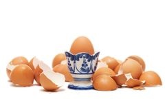 Breakfast. One intact egg in cup Royalty Free Stock Image
