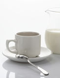 Breakfast. Milk and coffee on the table Royalty Free Stock Photography