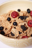 Breakfast. Morning breakfast with blueberries and raspberries Stock Photo