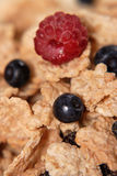 Breakfast. Morning breakfast with blueberries and raspberries Royalty Free Stock Photography