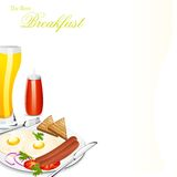 Breakfast. Easy to edit vector illustration of breakfast menu vector illustration