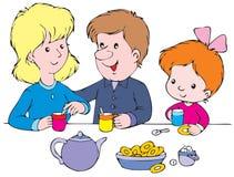 Breakfast. Vector clip-art / children's illustration for yours design, postcard, album, cover, scrapbook, etc Stock Image