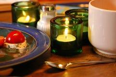 Breakfast. Table during european breakfast stock images