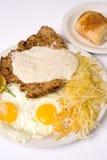 Breakfast. Chicken fried steak Royalty Free Stock Images