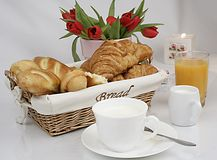 Breakfast. Morning pastry refreshment for breakfast stock photography