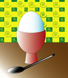 Breakfast. Vector illustration of breakfast with single egg Royalty Free Stock Images