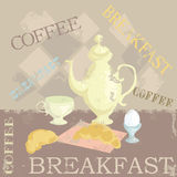 Breakfast. Grunge templates designs of menu Royalty Free Stock Photo