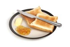 Breakfast. Isolated plate of breakfast on white stock photos