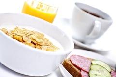Breakfast. High key studio shot of a healthy breakfast. Shallow depth of field Royalty Free Stock Photography