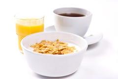 Breakfast. High key studio shot of a healthy breakfast. Shallow depth of field Stock Images