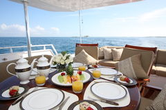 Breakfast Aboard Royalty Free Stock Image