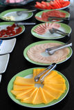 Breakfast arrangement Royalty Free Stock Images