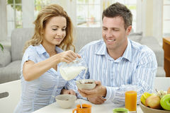 Breakfast At Home Royalty Free Stock Photo