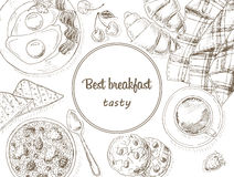 Breakfast background Stock Images