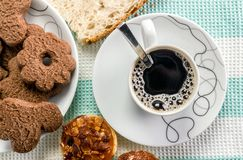 Breakfast background Stock Image