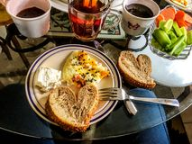 Breakfast background isolate. Breakfast background unit isolate natural royalty free stock photography