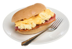 Breakfast Bacon & Egg Roll Royalty Free Stock Photography