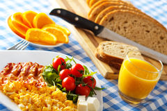 Breakfast with Bacon and Eggs Royalty Free Stock Photos