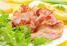 Breakfast with bacon and eggs Royalty Free Stock Photography