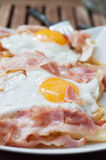 Breakfast with bacon and eggs Royalty Free Stock Photo