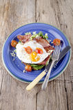 Breakfast with bacon and fried egg Royalty Free Stock Images
