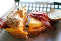 Breakfast Bagel stock photos