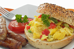 Breakfast Bagel Stock Photography