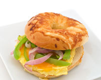 Breakfast Bagel Royalty Free Stock Photo