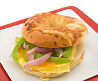 Breakfast Bagel Royalty Free Stock Photography