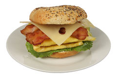Breakfast Bagel Royalty Free Stock Photo