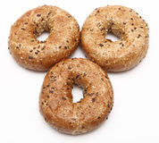 Breakfast bagels Stock Image