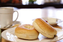 Breakfast Bagels Stock Photos