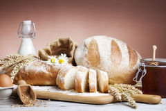 Breakfast.Bakery Bread. Royalty Free Stock Image