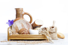 Breakfast.Bakery Bread. Royalty Free Stock Images
