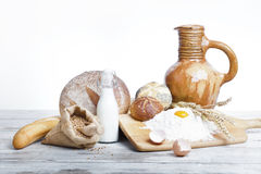 Breakfast.Bakery Bread Royalty Free Stock Photos