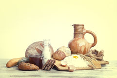 Breakfast.Bakery Bread Royalty Free Stock Images