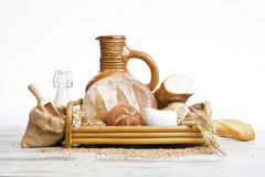 Breakfast.Bakery Bread Royalty Free Stock Photography