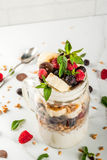 Breakfast banana split Royalty Free Stock Images