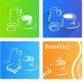 Breakfast banner Royalty Free Stock Photos