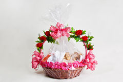 Breakfast basket gift Royalty Free Stock Image