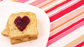 A breakfast - Be my valentine Stock Photos