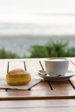 Breakfast on the beach Royalty Free Stock Images
