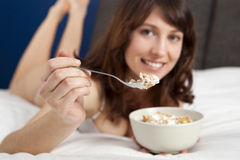 Breakfast on Bed Royalty Free Stock Photos